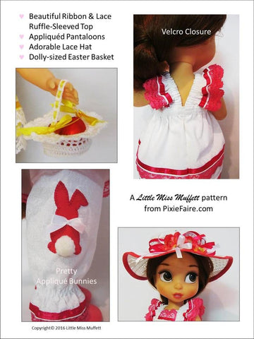 Little Miss Muffett Disney Animator Easter Parade Bundle Pattern for Disney Animator Dolls Pixie Faire