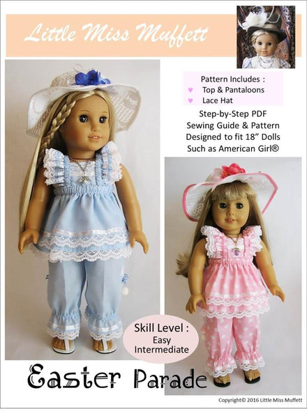 Little Miss Muffett Easter Parade Doll Clothes Pattern 18 ...