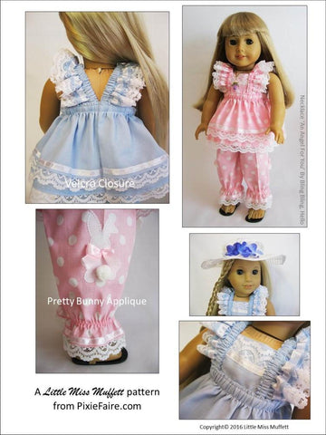 "Easter Parade 18"" Doll Clothes Pattern"