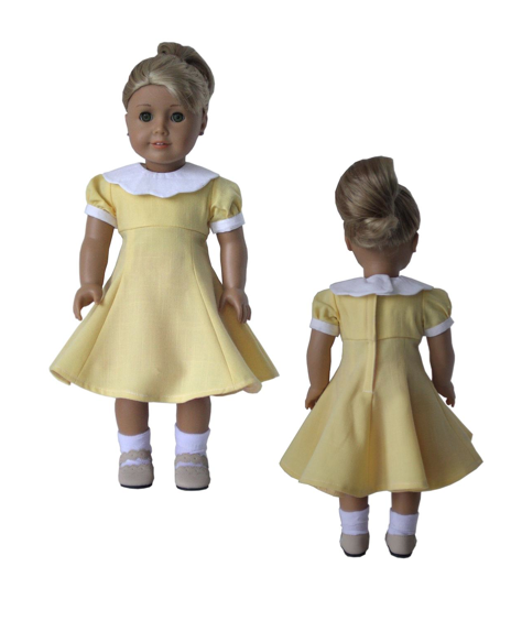 1950 S Silhouette Dress 18 Inch Doll Clothes Pattern Pdf