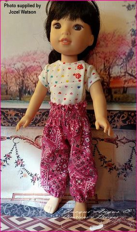 "Genie Pants 14.5"" Doll Clothes Pattern"