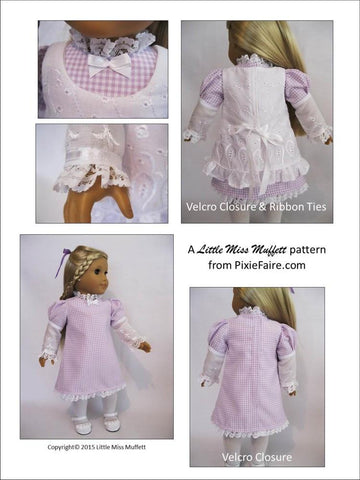 "Edwardian Fall 18"" Doll Clothes Pattern"