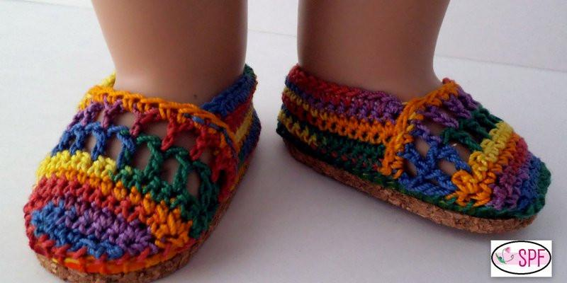 Elena Crocheted 18 Inch Doll Shoes Pattern Pdf Download Pixie Faire