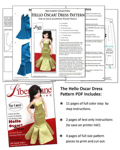 Hello Oscar Dress Pattern for Ellowyne Dolls
