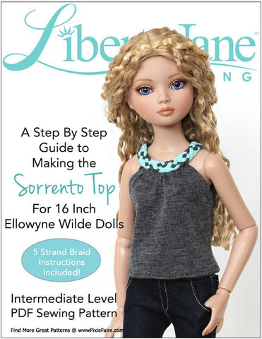 Sorrento Top Pattern for Ellowyne Dolls