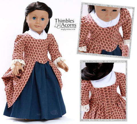 "1770 En Fourreau Gown 18"" Dolls Clothes Pattern"