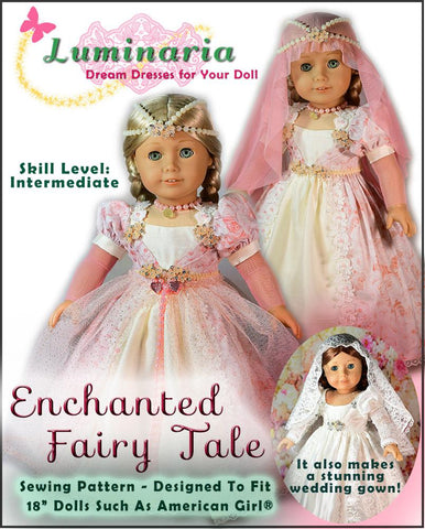 "Enchanted Fairy Tale 18"" Doll Clothes Pattern"