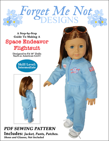 Space Camp Flight Suit American Girl Doll Clothes Pattern