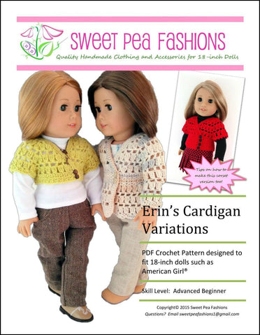Erin's Cardigan Variations Crochet Pattern