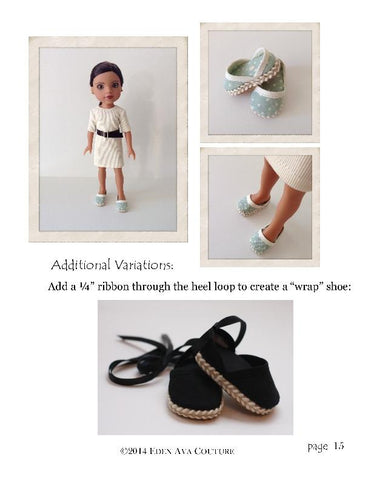"Espadrilles for 13-14.5"" Dolls"