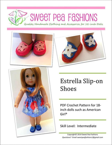"Estrella Slip-on Shoes 18"" Doll Shoes"