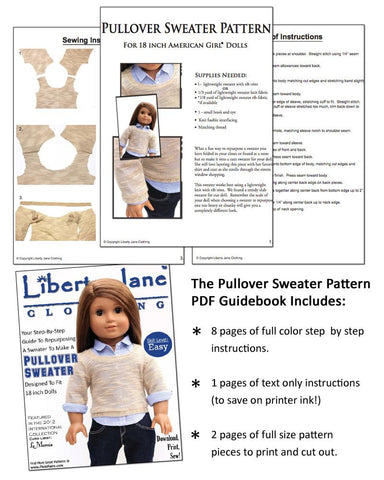 CD Doll Clothes Pattern Bundle - Le Marais Outfit Collection