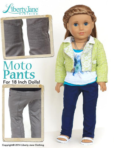 "Moto Pants Pattern 18"" Doll Clothes"