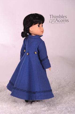 "Long Winter Coat and Hood 14.5"" Doll Clothes Pattern"