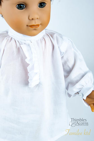 "Thimbles and Acorns 18 Inch Boy Doll 18th Century Shirt 18"" Doll Clothes Pattern Pixie Faire"