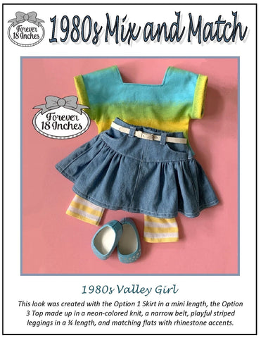 "1980s Mix and Match 18"" Doll Clothes Pattern"