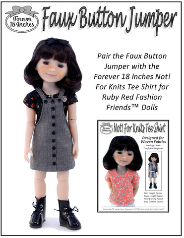 Faux Button Jumper Doll Clothes Pattern For Ruby Red Fashion Friends