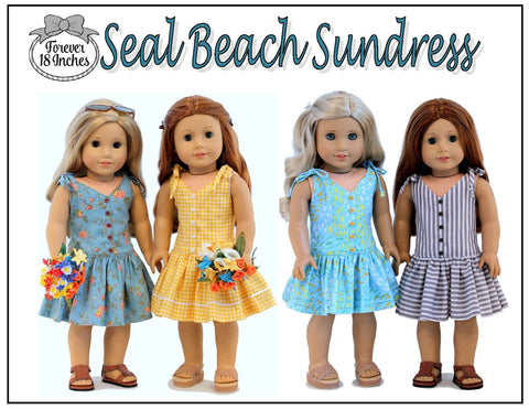 "Seal Beach Sundress 18"" Doll Clothes Pattern"