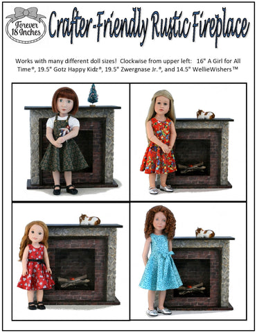 "Crafter-Friendly Fireplaces for 14"" - 19"" Dolls"
