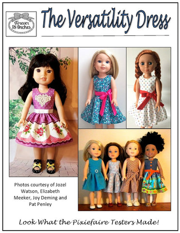 "The Versatility Dress 14-15"" Doll Clothes Pattern"