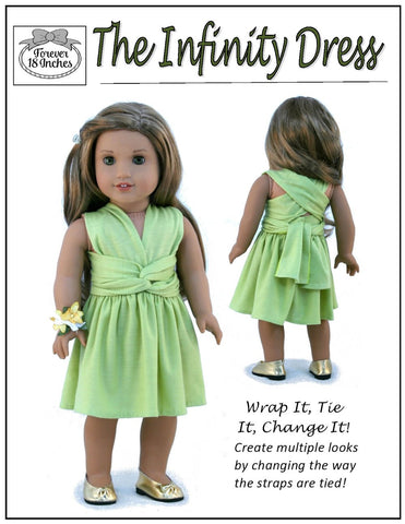 "Infinity Dress 18"" Doll Clothes Pattern"