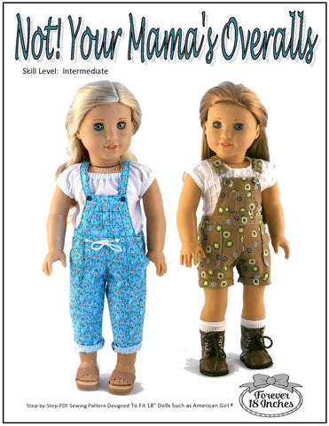 "Forever 18 Inches 18 Inch Modern NOT!  Your Mama's Overalls 18"" Doll Clothes Pixie Faire"