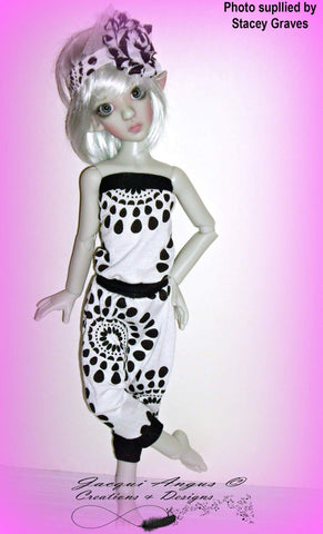 I Like To Move It - Harem Slacks and Jumper Pattern for MSD Ball Jointed Dolls
