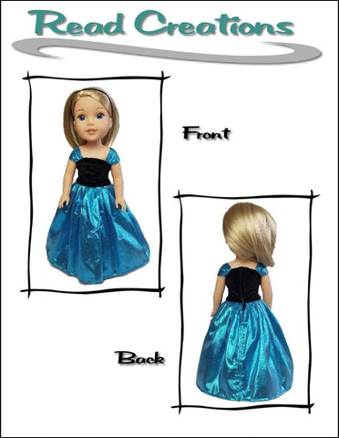 "Reversible Fancy Dress 14.5"" Doll Clothes Pattern"