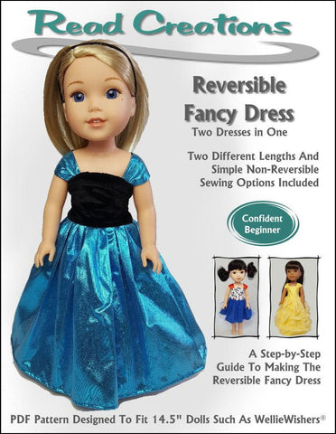 Reversible Fancy Dress for WellieWishers Dolls