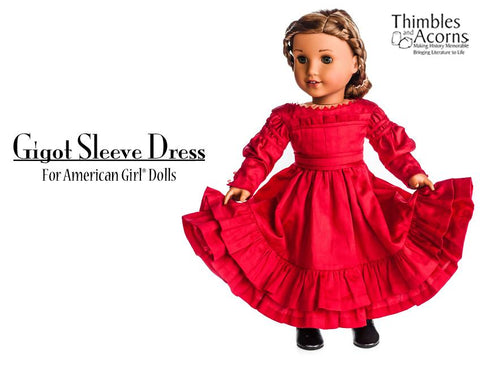 "Gigot Sleeve Dress 18"" Doll Clothes"