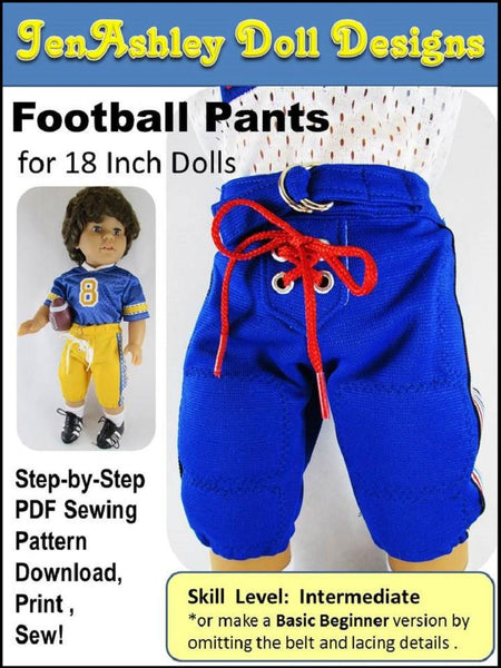 Jenashley Doll Designs Football Pants Doll Clothes Pattern