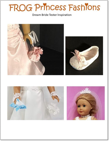 "Dream Bride Lace Accessories Set of 8 Machine Embroidery Designs For 18"" Doll Clothes"