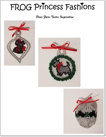 "Highlands Holiday 18"" Doll Machine Embroidery Design Set"