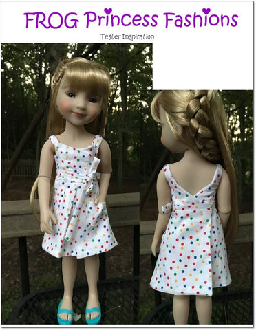 Key West Wrap Dress, Top, Skirt, and Bag Doll Clothes Pattern for Ruby Red Fashion Friends®