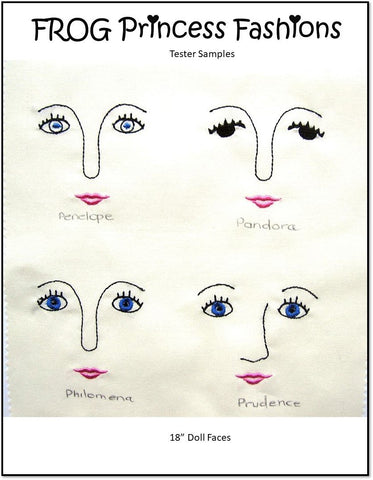 Pandora Doll Faces Machine Embroidery Design Set