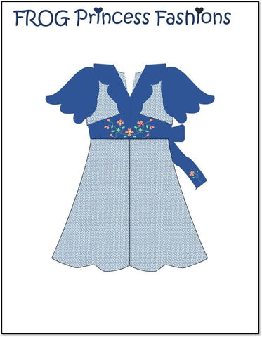 "Carolina Girl 18"" Doll Machine Embroidery Design"