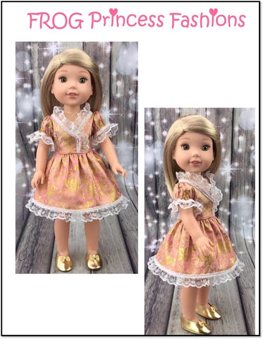 "Charm School Dress 14.5"" Doll Clothes Pattern"