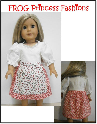 "Edelweiss Dress Set 18"" Doll Clothes Pattern"