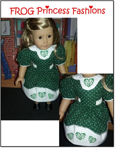 "Here's My Heart Set Machine Embroidery Design Set For 18"" Doll Clothes"