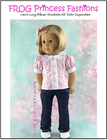 "Lori's Lacy Blouse Complete Machine Embroidery Design Set For 18"" Doll Clothes"