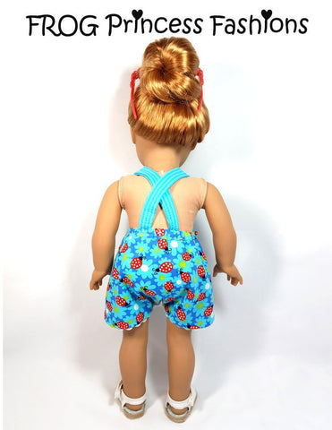 "Ladybug Romper 18"" Doll Clothes Pattern"