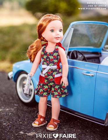 Retro Romper Pattern For 14 to 14.5 Inch Dolls