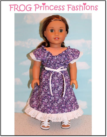 "Sweet Tea Dress 18"" Doll Clothes Pattern"