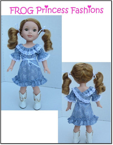 "Sweet Tea Dress 14.5"" Doll Clothes Pattern"