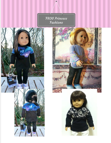 "Tulsa Tunic 18"" Doll Clothes Pattern"