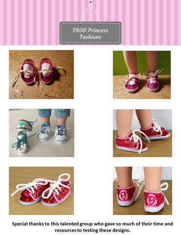 "Sweet Sneaks for 13"" - 14.5"" Dolls Machine Embroidery Design"