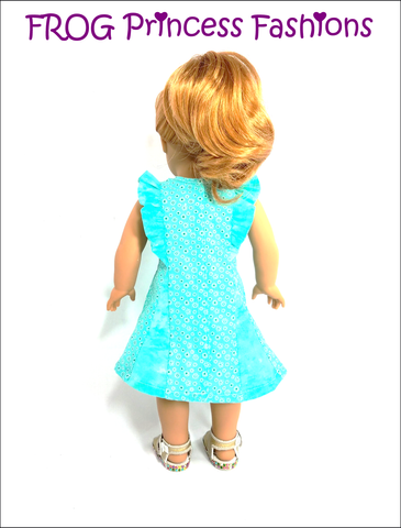 "Waikiki Waves Dress 18"" Doll Clothes Pattern"