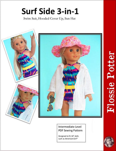 "Flossie Potter 18 Inch Modern Surf Side 3-in-1 Set 18"" Doll Clothes Pixie Faire"