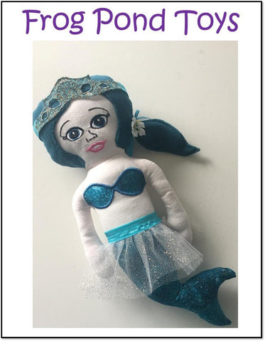 pdf machine embroidery design mermaid soft doll Frog Pond Toys