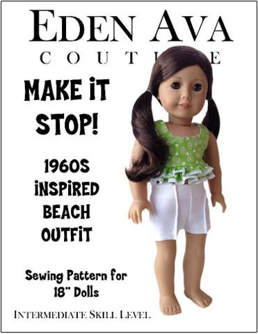 "1960's Make It Stop Beach Outfit 18"" Doll Clothes"